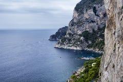 Capri. An aerial view of the coast of Capri Stock Photo