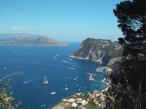 Capri Bay Italy. View of Bay Royalty Free Stock Photo