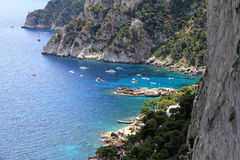 Capri: the bay of Marina Piccola Royalty Free Stock Images