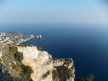 Capri blue excusive sea view. What is Carpi Blue for you? Maybe RAL 5019? Now for me it's the color of beautiful sea near Capri Island, Italy royalty free stock images