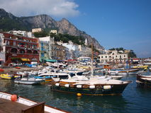 Capri on Capri Island, Italy stock photos