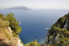 Capri cliff view Stock Images