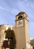 Capri Clocktower. Clocktower on the Italian island of Capri Royalty Free Stock Images
