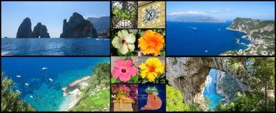 Capri-Collage Stockfoto