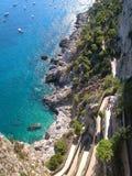 Capri Drop. Beautiful blue water on the Island of Capri, Southern Italy Stock Photos