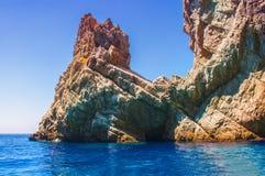 Capri e le processa o coste Fotografia de Stock Royalty Free