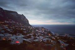 Capri en la oscuridad fotografía de archivo libre de regalías