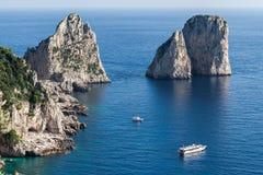 Capri Faraglioni fotografia stock libera da diritti