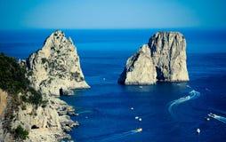 Capri Faraglioni Royaltyfria Bilder