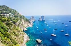 Capri, Faraglioni Fotos de Stock Royalty Free