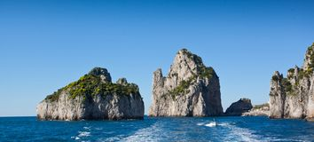 Capri, Faraglioni Royalty Free Stock Photography