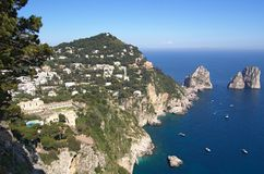 Capri and faraglioni, Campania, Italy Royalty Free Stock Photography