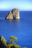 Capri and faraglioni, Campania, Italy Royalty Free Stock Images