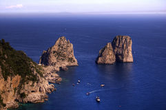 Capri and faraglioni, Campania, Italy Stock Photo