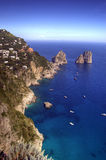 Capri and faraglioni, Campania, Italy Stock Photography