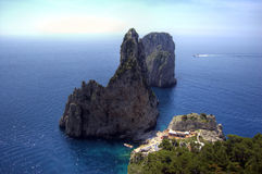 Capri and faraglioni, Campania, Italy Stock Photos
