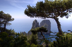 Capri and faraglioni, Campania, Italy Royalty Free Stock Image