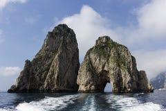 Capri faraglioni Royalty Free Stock Images