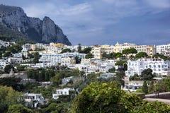 Capri. A fascinating glimpse of the town of Capri Stock Photos