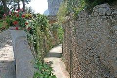 Capri gator Royaltyfri Bild