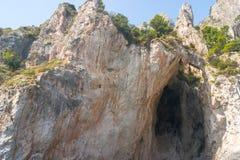 Capri grota Fotografia Royalty Free