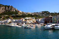 Capri harbor Stock Images