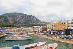 Capri harbor Stock Photography