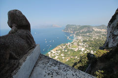 The Capri harbour seen from the Villa San Michele Royalty Free Stock Images