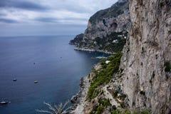 Capri. The high cliff on the island of Capri Royalty Free Stock Photo