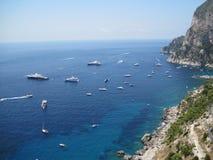 Capri - insenatura 01 da vista Foto de Stock Royalty Free