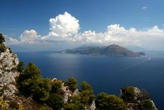 Capri island. Sorento peninsula,shot from Capri island,Campania,Italy Stock Image