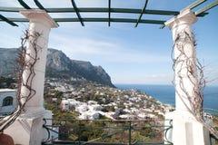 Capri island. Capri island in Tyrrhenian sea, Italy stock image
