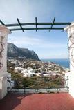 Capri island. Capri island in Tyrrhenian sea, Italy stock photos