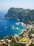 Capri island. Summer hot day in capri island (aerial view Stock Image
