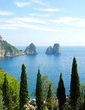 Capri island. Beautiful summer landscape Royalty Free Stock Image