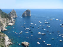 Capri island. Beautiul summer day in Capri island Stock Images