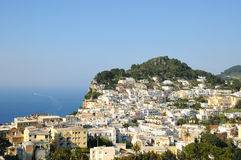 Capri island in Campania province Royalty Free Stock Photography