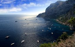 Capri island coast Stock Photos