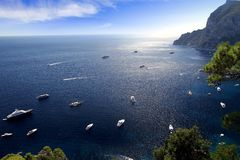Capri island coast Royalty Free Stock Image
