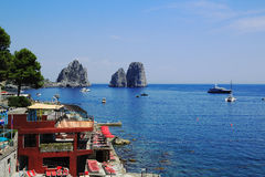 Capri island. The famous Faraglioni of Capri Royalty Free Stock Photo