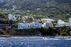Capri island hotels Stock Photo