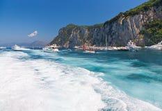 Capri island in Italy Stock Images
