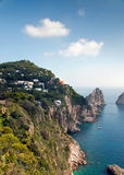 Capri Island in Italy. A favorite place of celebrities Royalty Free Stock Images