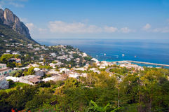Capri Island in Italy. A favorite place of celebrities Royalty Free Stock Photo