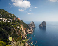 Capri Island in Italy. A favorite place of celebrities Stock Photos
