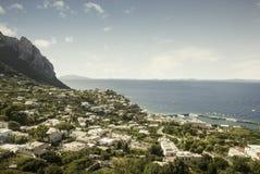 Capri island in Italy stock photography