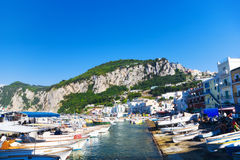 Capri island in Italy Royalty Free Stock Photos