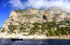 Capri Island, Italy, Europe. Capri Island - luxurious touristic destinationin Europe stock images