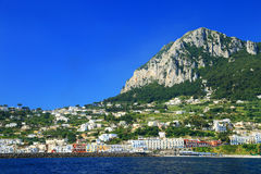 Capri Island, Italy, Europe. Capri Island - luxurious touristic destinationin Europe royalty free stock photography