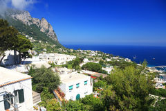 Capri Island, Italy, Europe. Capri Island - luxurious touristic destinationin Europe royalty free stock photos